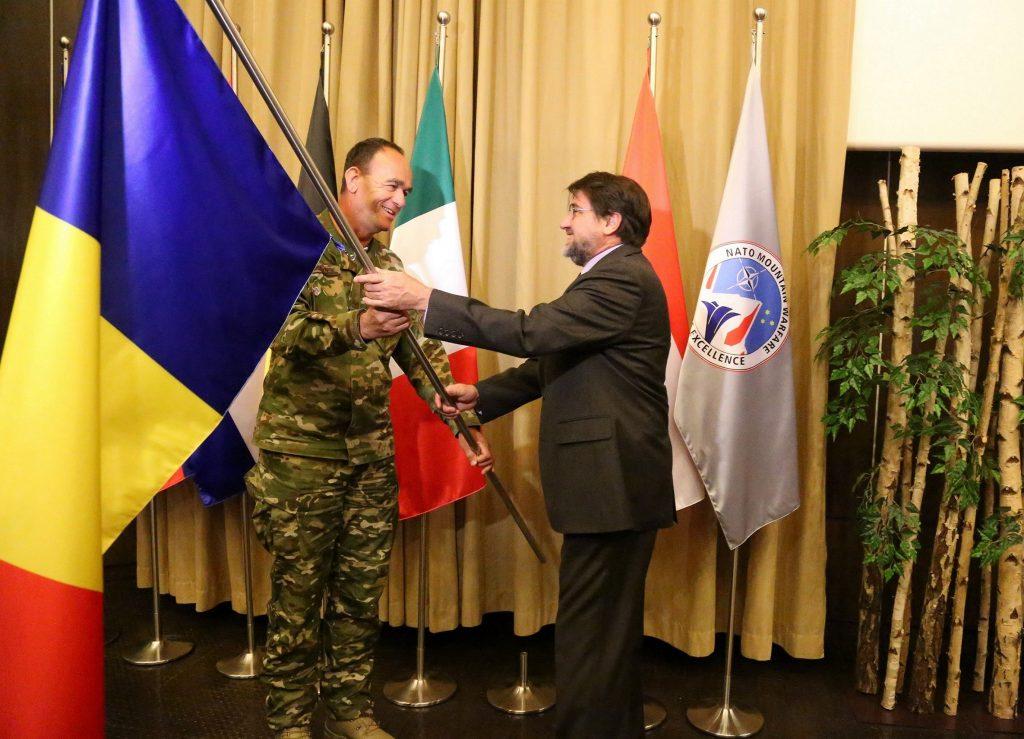 COL Boštjan Blaznik, NATO MW COE Director and H.E. Mr. Anton Niculescu, ROU Ambassador
